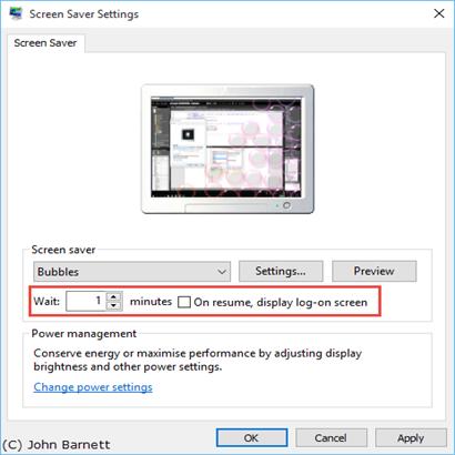 How to resume screensaver
