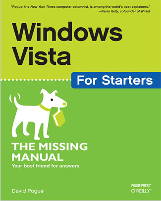 Windows Vista For Starters - The Missing Manual book cover