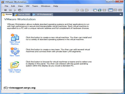 VMware Start Screen