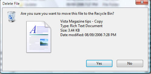 Fig 6: Delete File Box