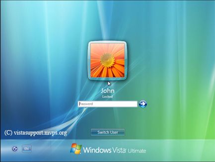 Windows Vista Log On Screen