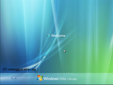 Windows Vista Welcome screen
